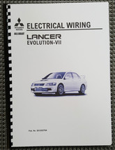 Mitsubishi Lancer Evo Vii Electrical Wiring Manual Reprinted Comb Bound - $42.51
