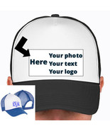 CUSTOM PHOTO IMAGE TRUCKER SNAP BACK HAT PICK COLOR YOUR PHOTO, LOGO, MO... - $14.98