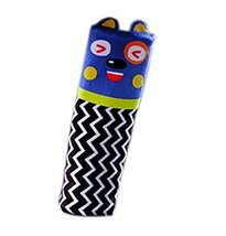Creative Safe Car Soft Seat Belt Strap Cover, Lovely Catoon Cat, Blue