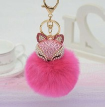 Purse Charm KeyChain New With Tags Hot Pink - $10.39