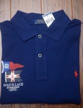 Polo Ralph Lauren Men's R.L. & CO Navy Mesh Cotton Polo Shirt Big & Tall LT - $40.09