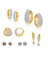 Efulgenz Pack of Cubic Zirconia Cubic Zirconia Stone Earrings for women - $31.00