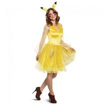 Women'S Pikachu Female Adult Deluxe Costume, Yellow Medium (8-10) - $49.05