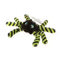 NICI Spider Yellow Black Stuffed Toy Beanbag Key Chain 4 inches 10 cm - $11.99