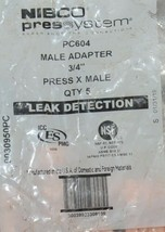 Nibco Press System PC604 Male Adapter 3/4 Inch Copper 9030950PC 5 Per Bag image 2