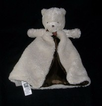 Carters White & Brown Baby Teddy Bear Rattle Security Blanket Stuffed Plush Toy - $36.47