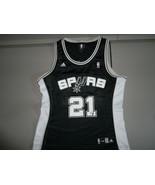 Black San Antonio Spurs 21 Tim Duncan Screen Polyester NBA Adidas Jersey... - $18.80