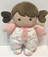 Lot of 3 Plush Carters and Tippi Toes Baby Dolls Rattles and Hippo Rattl... - $17.55