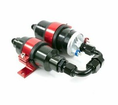 Two in One Electric Fuel Pump and Inline Filter Kit With Mounting Bracket