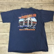 Harley Davidson T Shirt Highway 80 Rocklin California Blue Men's Size XL - $23.14
