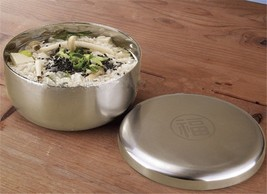 Blessing Bowl Stainless Steel Food Bowl With Lid Wholesale Korea Korean - $15.19