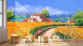 3D Die Felder der Hütte 75 Fototapeten Wandbild Fototapete BildTapete Familie DE - $52.21+
