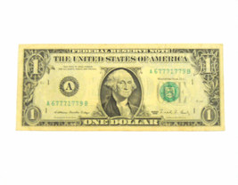 Dollar Bill Liars Poker 5 / 7`s Currency 1988 A Series $1Note - $12.19
