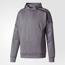 Adidas Z.N.E. Pulse Jacquard Hoodie Men Size (Xl) Grey Three BS4951 New Comfort - $108.89