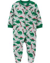 Sleep And Play Child Of Mine One Piece Christmas Dinosaurs - $12.00
