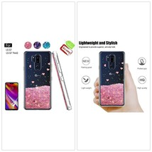 LG G7 ThinQ Case Dual Layer Hybrid Lightweight Shockproof Floating Glitt... - $15.63
