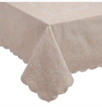 Lenox French Perle 52-Inch x 70-Inch Oblong Tablecloth w/ Storage Bag in... - $26.61