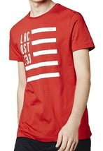 NEW LACOSTE FLAG MEN'S PREMIUM COTTON CREW NECK CASUAL SHIRT T-SHIRT TOKYO RED