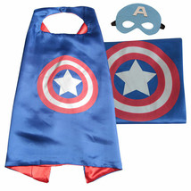 Kids Super Hero Satin Cape Felt Masks Party Cosplay Costume Dress Up 4-7yrs - $7.23