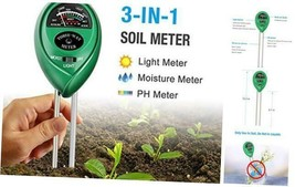 Atree Soil pH Meter, 3-in-1 Soil Tester Kits with Moisture,Light and PH ... - $29.84 CAD