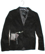 NWT Takeshy Kurosaw Blazer Jacket 10 Black New Italy Designer Womens Vel... - $495.00