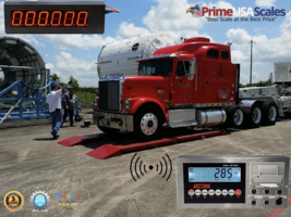 "Wireless OP-923 Axle Truck Scale 7'x30 60,000 lb Indicator Printer 8"" Sc... - $6,299.00"