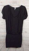 Splendid Tunic Dress Small Black Banded Skirt Flowy Top - $23.74