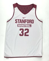 New Nike Women's M Stanford Pinnacle Mesh Reversible Basketball Tank Red White  - $59.39