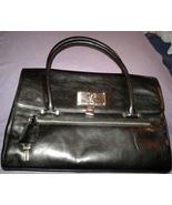 BCBGirls BCB Girls Black Leather Handbag Satchel Doctor Bag Purse Pre-owned - $35.00
