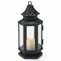 Black Metal Stagecoach Candle Lantern - $7.84