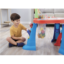 Kids Art Desk Table Light Up Tracing Board Drawing Crafts Toddler Stool ... - $106.39