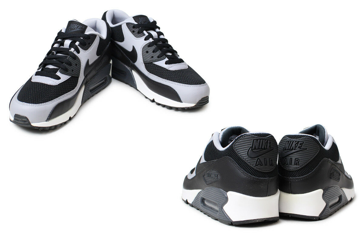 premium selection 92f08 869fc Nike Air Max 90 Essential 537384-053 Black Leather Classic Casual Men