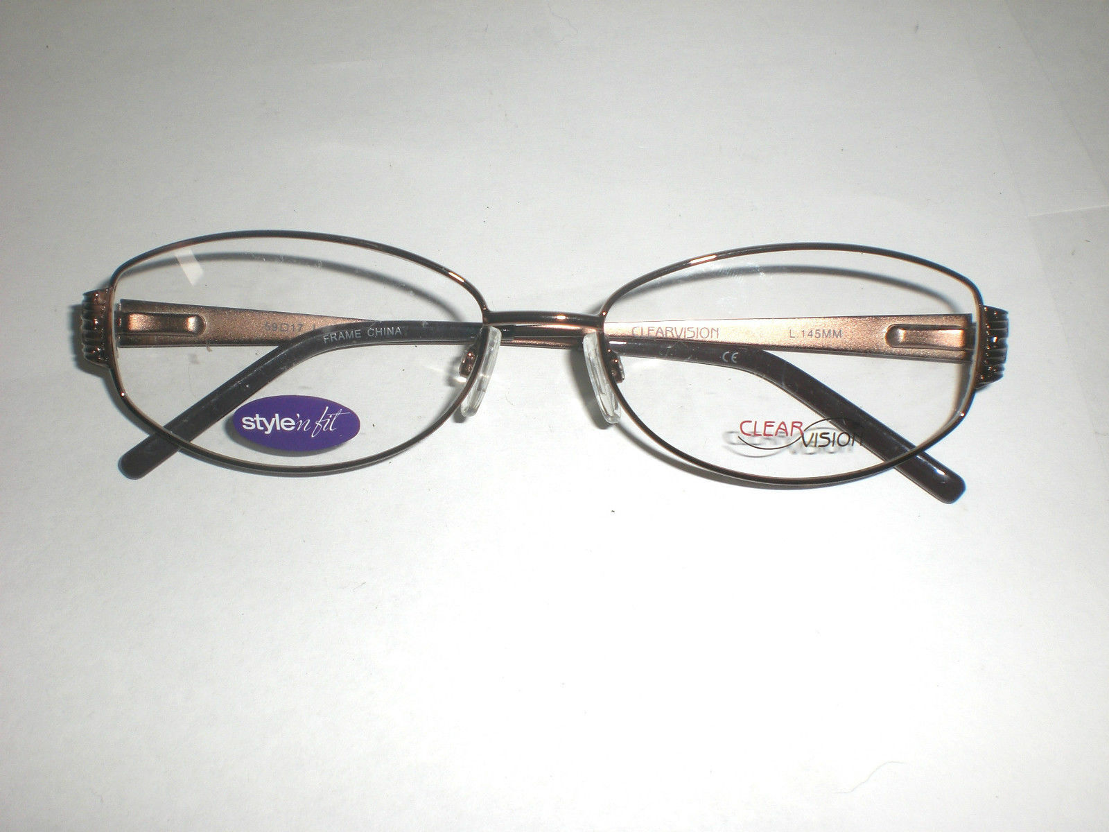 Clearvision Designer Women's Eyeglass Frames Megan Brown Size : 59-17-145 mm - $20.99