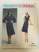 Vogue Paris Original Pierre Balmain Sewing Pattern 1463 Dress & Jacket S... - $21.24
