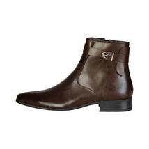 Mens Ankle Chelsea Formal Boots Side Zip Versace V 1969 - CASPER Brown E... - $51.77
