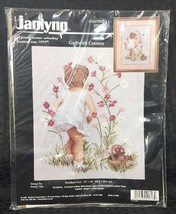 Janlynn Girl with Cosmos Counted Cross Stitch Kit 29-18 Nancy Cole 1995 ... - $13.58