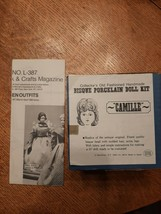 Vintage LITTLE WOMEN DOLL KIT CAMILLE BISQUE PORCELAIN  BY SHACKMAN new ... - $14.01