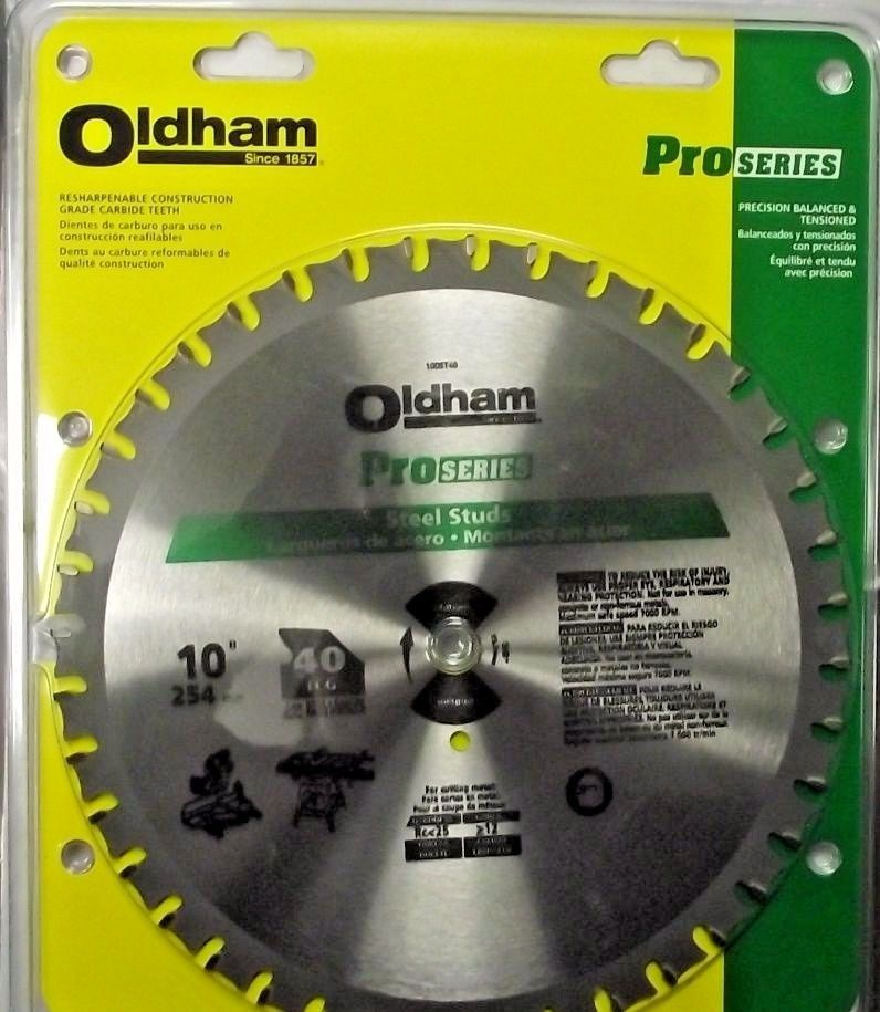 Primary image for Oldham 100ST40 10 x 40 Steel Stud Cutting Carbide Saw Blade USA