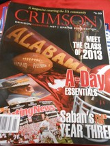 Alabama Football CRIMSON Magazine for the TIDE Nation Spring 2009 Edition - $9.49