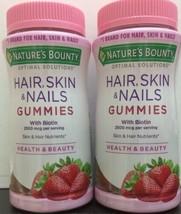 2x Nature's Bounty Hair, Skin, & Nails Plus Biotin 80Gummy/Each Exp:06/22 - $22.76