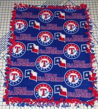 "Texas Rangers Baby Blanket Fleece Pet Lap Blue Red 30""x 24"" MLB Baseball - $39.95"