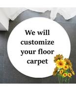 Custom Logo Rugs Round Carpet Personalized Rug Super Art Floral Ara Rugs... - $23.50+