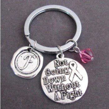 Primary image for Not going down without a fight Keychain Personalized Fighter gift