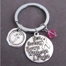 Not going down without a fight Keychain Personalized Fighter gift - $12.00