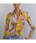 Women's Multi Color Pleated Fabric Top  Petite Size PS - $10.50