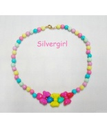 Childs Kids Girls Boys Jewelry Necklaces Fun Beaded Multi Color Bows - $8.99
