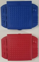 Travel Battleship Board Game 2009 Hasbro Red & Blue With All Pieces - $9.27