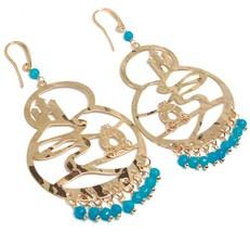 Drop Earrings Silver 925, Carriage, Castle, le Favole, Agate Blue image 1