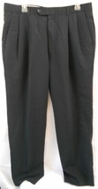 Alfani Mens Black Size 36 Pants Trousers Pleated Front 100% Wool Woolmark - $16.99