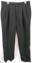 Alfani Mens Black Size 36 Pants Trousers Pleated Front 100% Wool Woolmark - $16.99